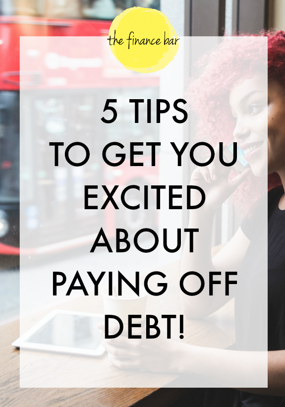 """With perseverance and determination, any situation can be turned around. If we're excited in our quest to obtain the things that placed us in """"debt"""" we can be equally excited when it's time to pay back."""