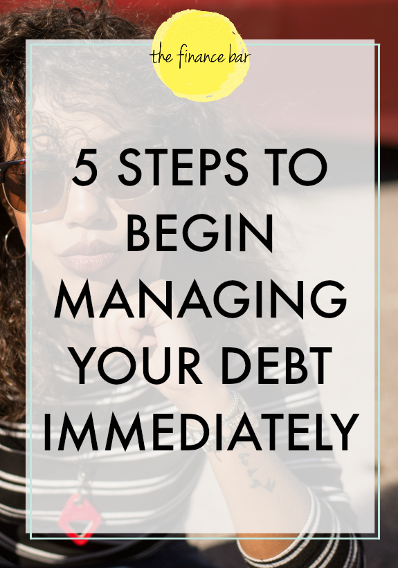 Debt management is a formal agreement that you and your debtor make to pay back funds that you have borrowed. Though payback programs, such as having a minimum monthly payment, can seem like a fair agreement to help you pay off your debt, your creditor is benefiting more from you owing them money over a longer period of time (remember they also have to earn money). You are also paying them interest that you could use to focus on other things if you pay off your debt quicker. Here's 5 vital steps to help you manage debt immediately.